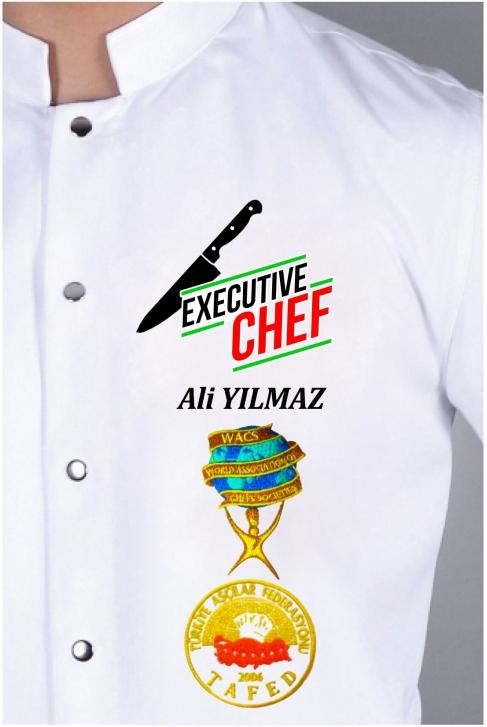 070- ÇAPRAZ BIÇAK ve EXECUTIVE CHEF NAKIŞI