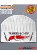 4309- TÜRK BAYRAKLI ve BIÇAKLI TURKISH CHEF AŞÇI ŞAPKASI isminizin yazılması ÜCRETSİZ