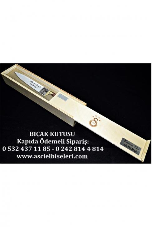88014- HEDİYELİK  BIÇAK KUTULARI İsminizin kutu üzerine lazer ile yazılması HEDİYE