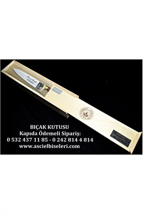 88015- HEDİYELİK  BIÇAK KUTULARI İsminizin kutu üzerine lazer ile yazılması HEDİYE