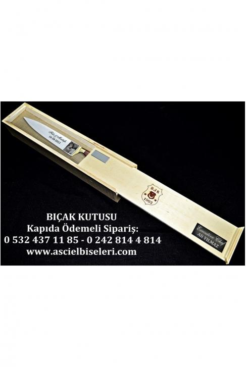 88016- HEDİYELİK  BIÇAK KUTULARI İsminizin kutu üzerine lazer ile yazılması HEDİYE