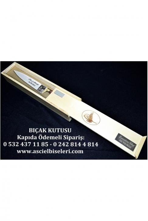 88019- AŞÇILARA HEDİYELİK  BIÇAK KUTULARI İsminizin kutu üzerine lazer ile yazılması HEDİYE