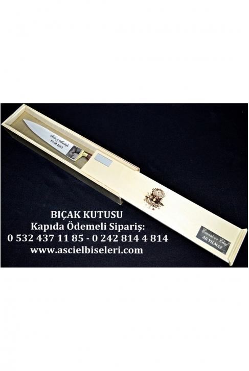 88021- AŞÇIYA ALINABİLECEK HEDİYELİK  BIÇAK KUTULARI İsminizin kutu üzerine lazer ile yazılması HEDİYE