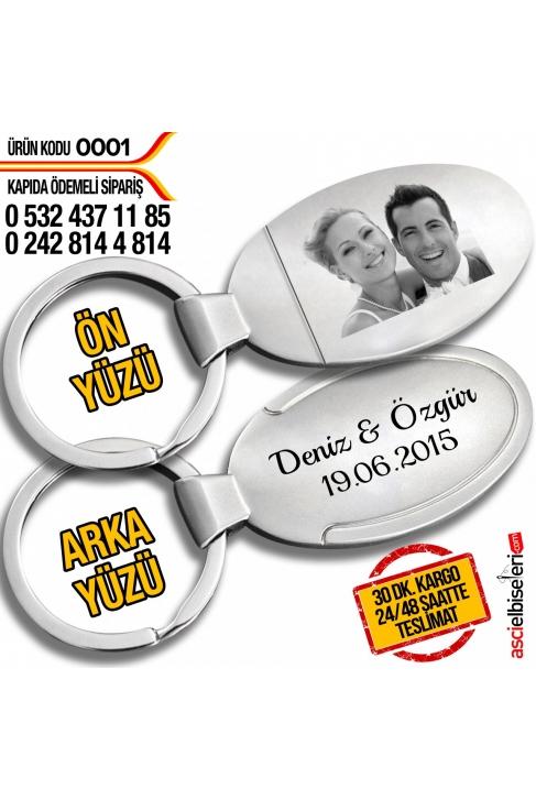 0001 FOTOĞRAFINIZIN ve İSMİNİZİN İŞLENDİĞİ ANAHTARLIK